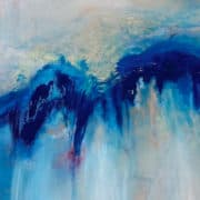 Contemporary Art Los Angeles Titled CA BLUE WAVES by Todd Krasovetz Oil on Canvas