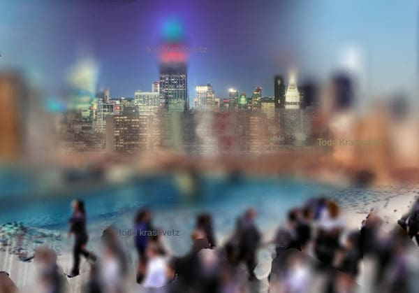 New York Abstract Art Titled New York Dreaming of the Beach by Todd Krasovetz